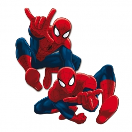 Pack de 2 Siluetas Decorativas Spiderman