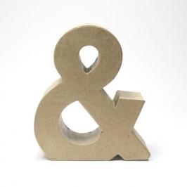 Símbolo & de Cartón 17cm