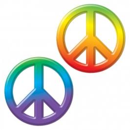 Símbolo Paz Hippie Colores