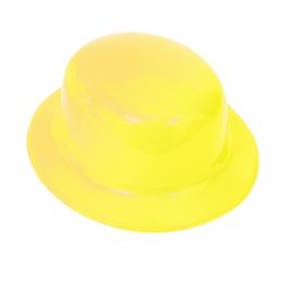 Sombrero Bombín Amarillo 26 cm