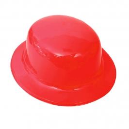 Sombrero Bombín Rojo 26cm