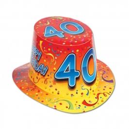 Sombrero de Copa 40 Cumpleaños
