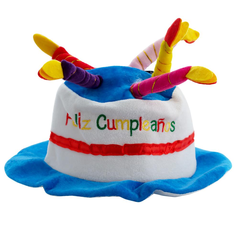 Sombrero Feliz Cumpleaños Azul