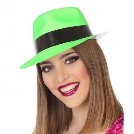 Sombrero Plástico Verde Neon