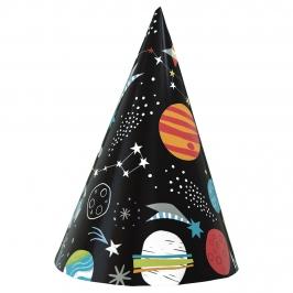 Set de 8 Sombreros Cono Espacio Estelar