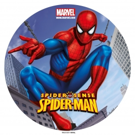 Disco de azúcar Spiderman 20cm