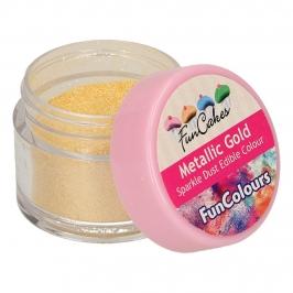 Colorante en Polvo Brillante Metallic Gold Funcakes