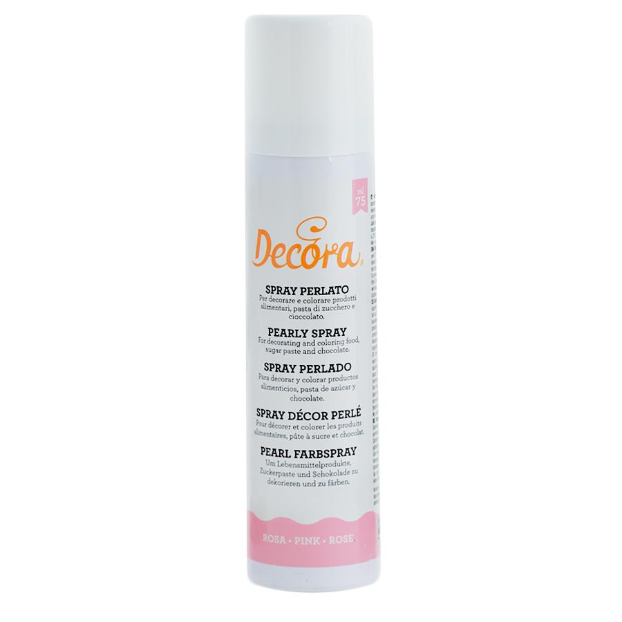 Spray comestible rosa perlado 75ml - My Karamelli