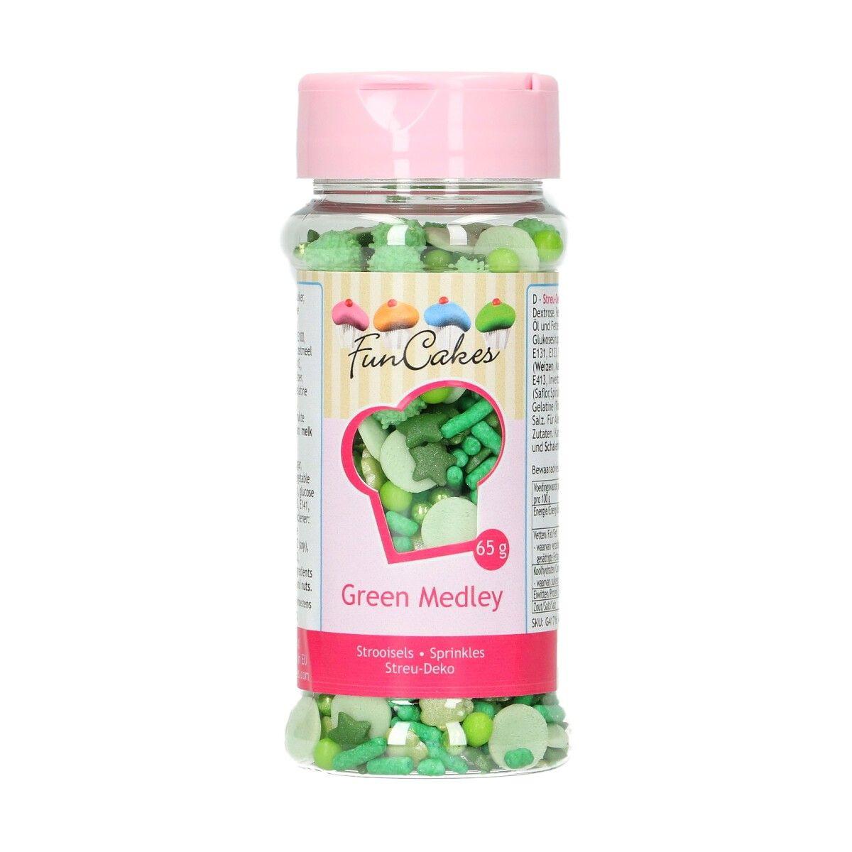 Sprinkles Medley Green 65 gr - FunCakes