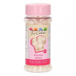 Sprinkles Mimosa Blanco 45 gr - FunCakes