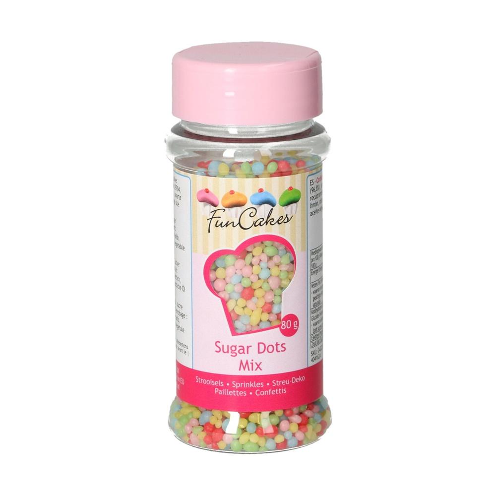 Sprinkles Sugar Dots Mix 80 gr - FunCakes