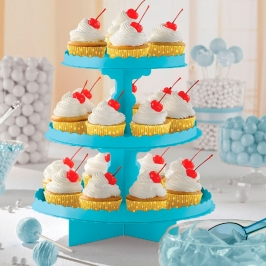 Stand para Dulces y Cupcakes Caribbean Blue