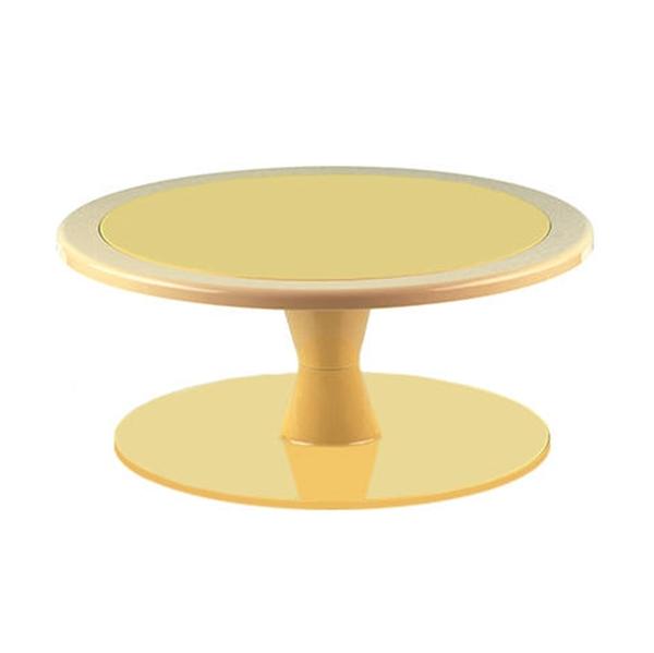 Stand color Amarillo para tartas 24 cm