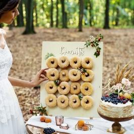 Stand para Donuts Madera Natural