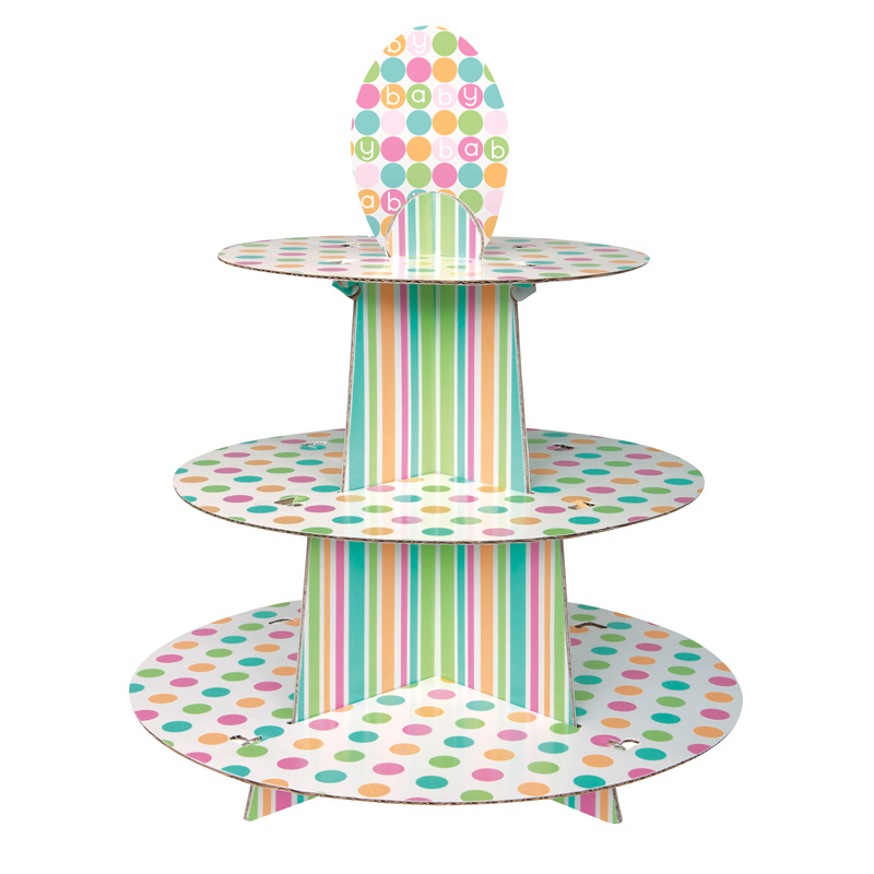 Stand para Cupcakes Baby Colores Pastel