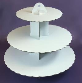 Stand para cupcakes blanco 3 alturas