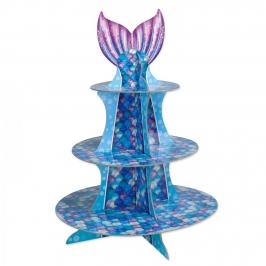Stand para cupcakes de cola de sirena de 41 cm