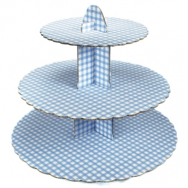 Stand para cupcakes Gingham Blue