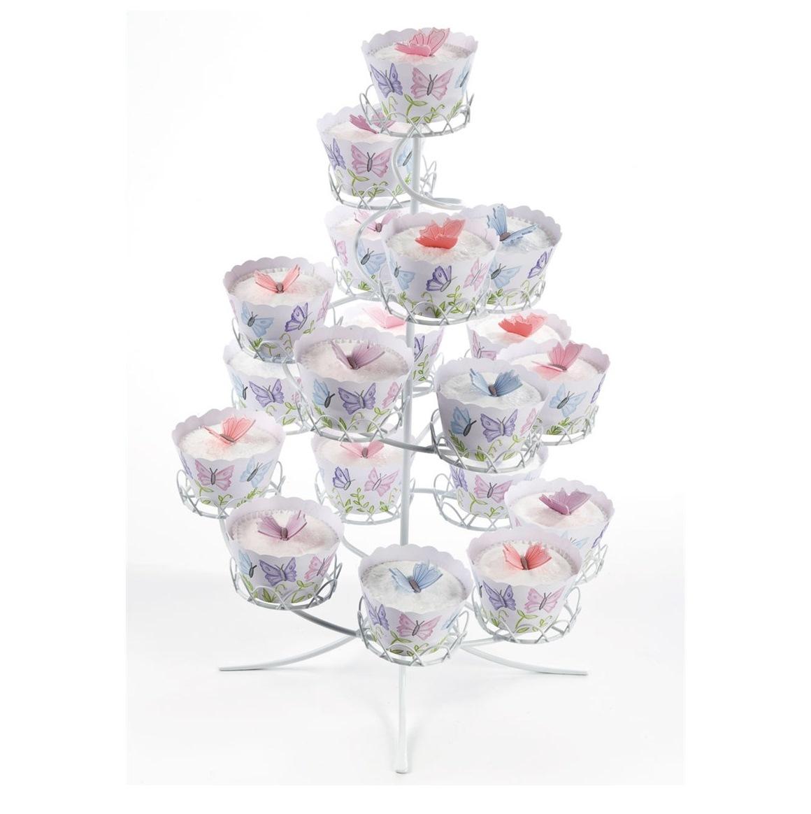 Stand para cupcakes metálico Blanco PME