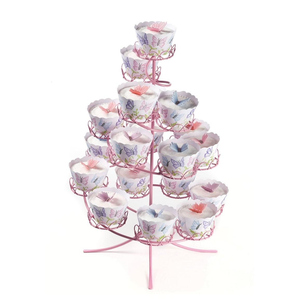 Stand para cupcakes metálico Rosa