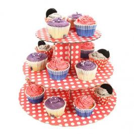 Stand para cupcakes Polka Dot Red
