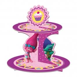 Stand para cupcakes y dulces de Trolls de 30 cm de alto