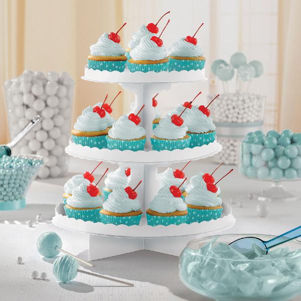 Stand para Dulces y Cupcakes Blanco