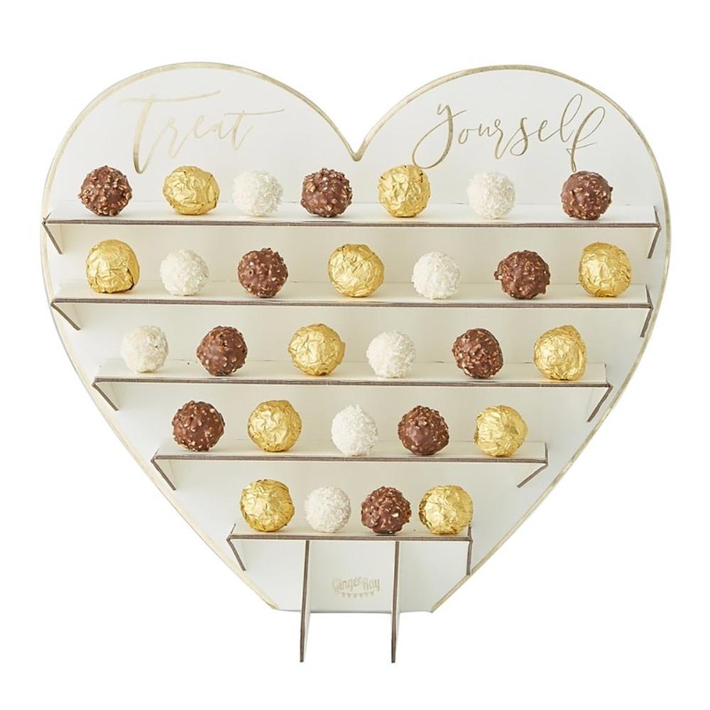 Stand vertical para poner chocolates en eventos de 35 cm
