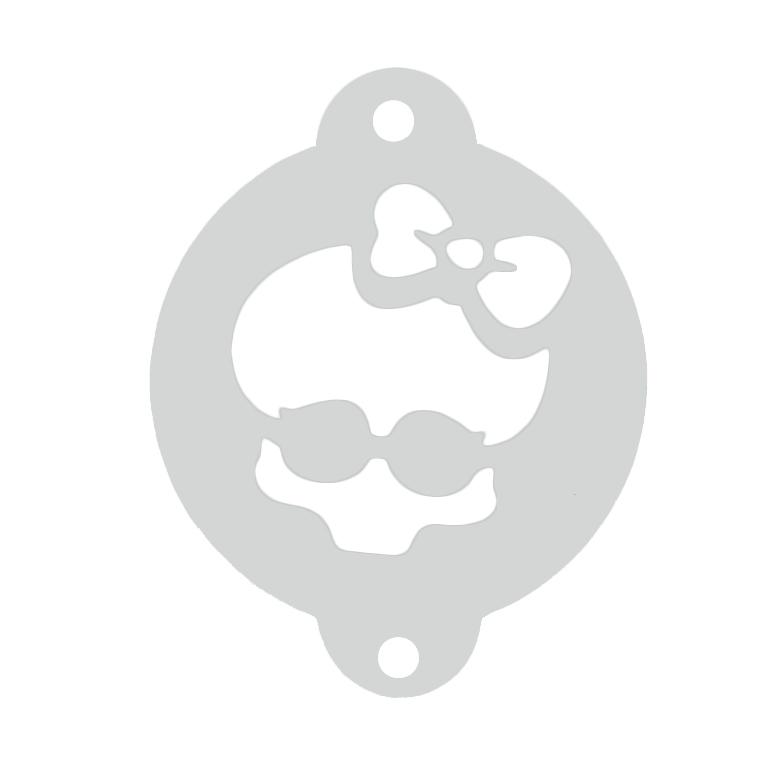 Stencil Calavera con Lazo