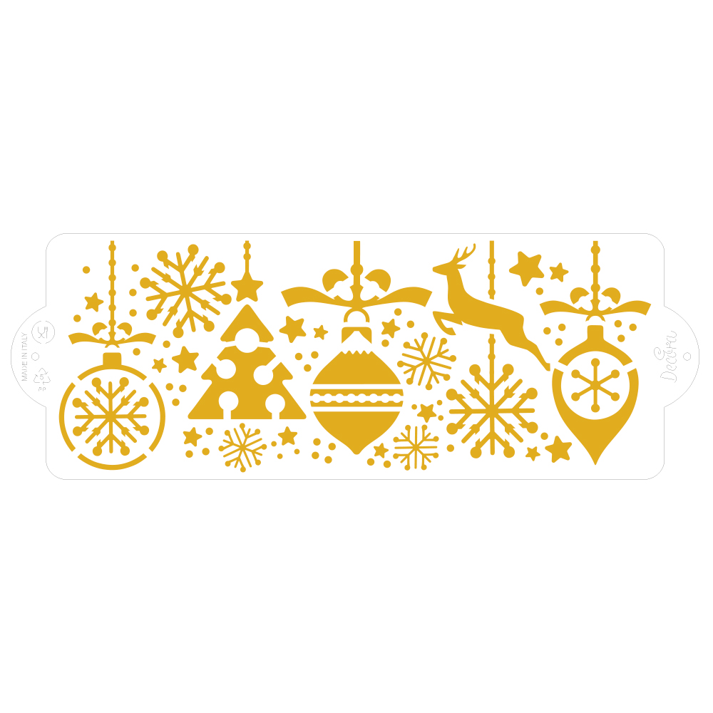 Stencil Decorativo para Tartas Navidad