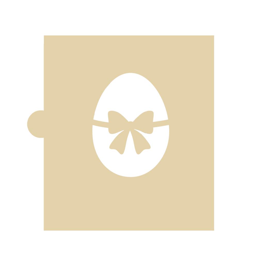 Stencil Huevo de Pascua con Lazo 5 cm