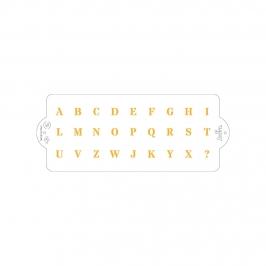 Stencil para Tartas Alfabeto