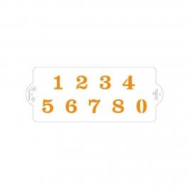 Stencil para Tartas Números