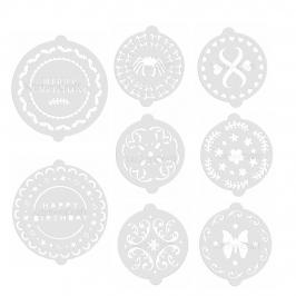 Pack 8 Stencils Decorativos para Tartas