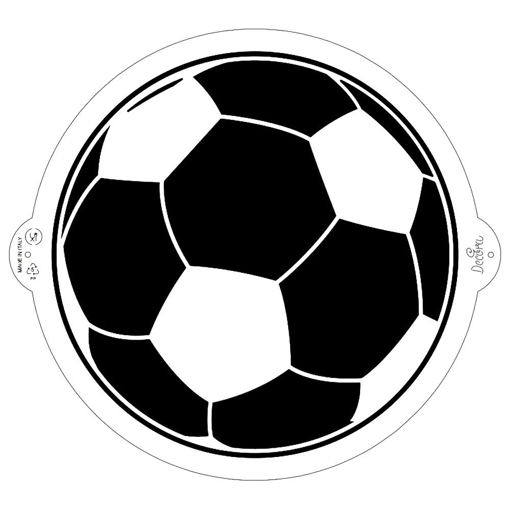 Stencil Decorativo para Tartas Balón de Fútbol