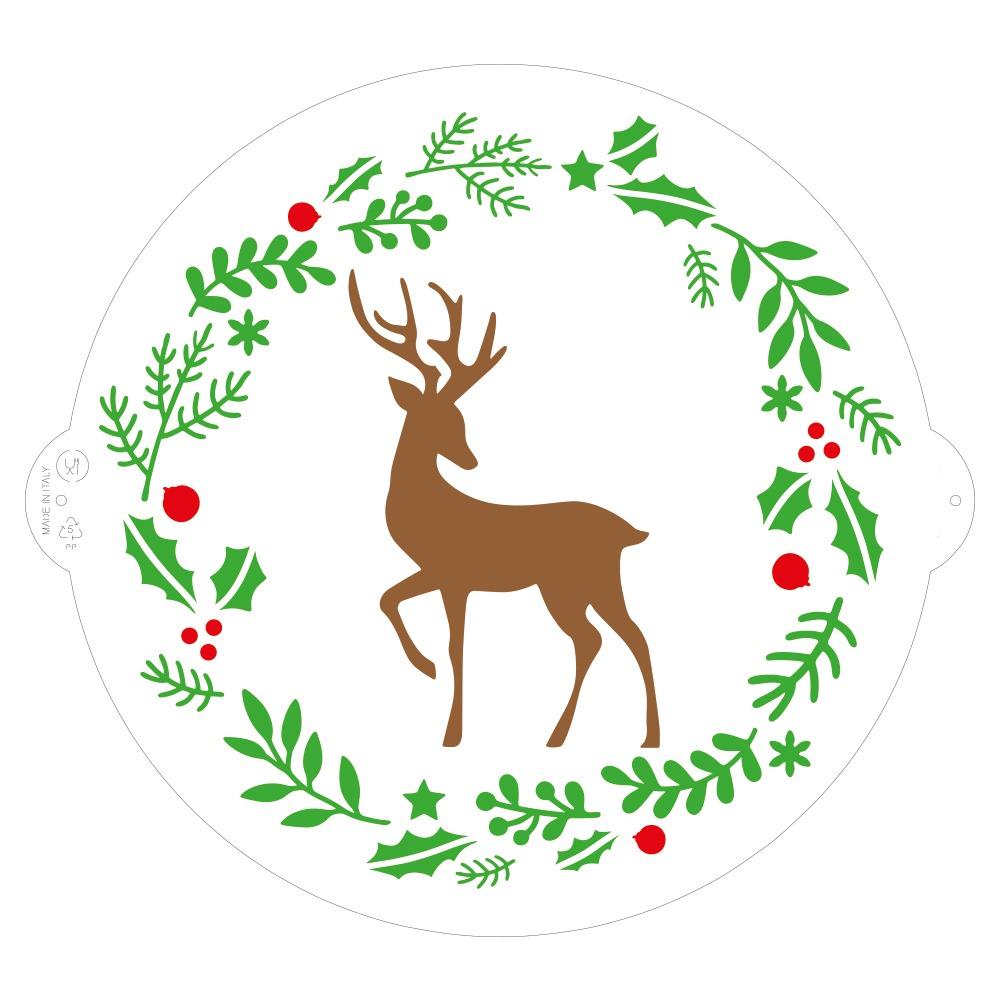 Stencil Reno Navidad 25 cm