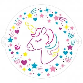 Stencil Decorativo para Tartas Unicornio