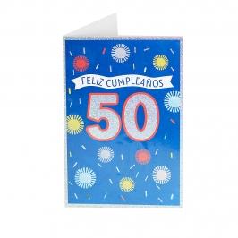 Tarjeta de Felicitación 50 Cumpleaños Modelo A