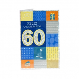Tarjeta de Felicitación 60 Cumpleaños Modelo A