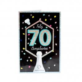 Tarjeta de Felicitación 70 Cumpleaños Modelo A