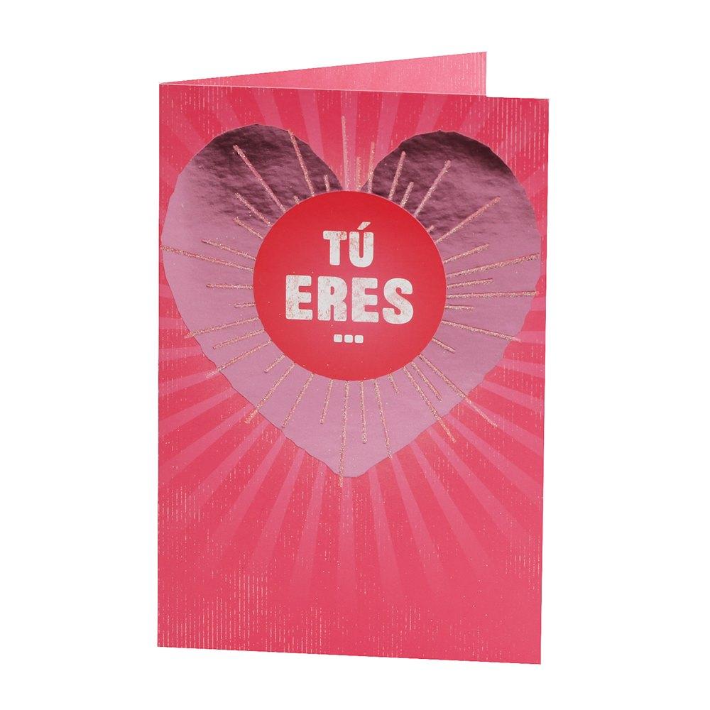 Tarjeta de Felicitación Corazón Modelo A
