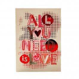 Tarjeta de Felicitación Corazón Modelo D
