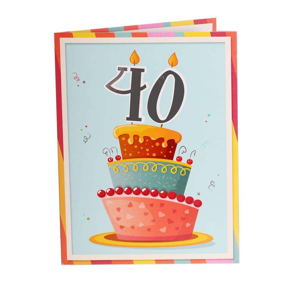 Tarjeta de Felicitación Gigante 40 Cumpleaños