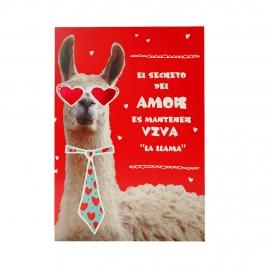 Tarjeta de Felicitación Amor Llama