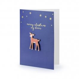 Tarjeta de Felicitación Navidad con Pin