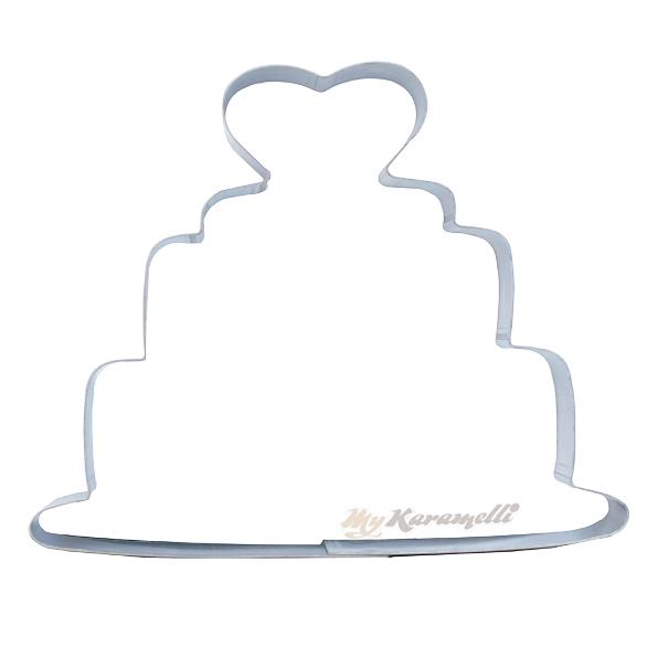 Cortador tarta con corazón
