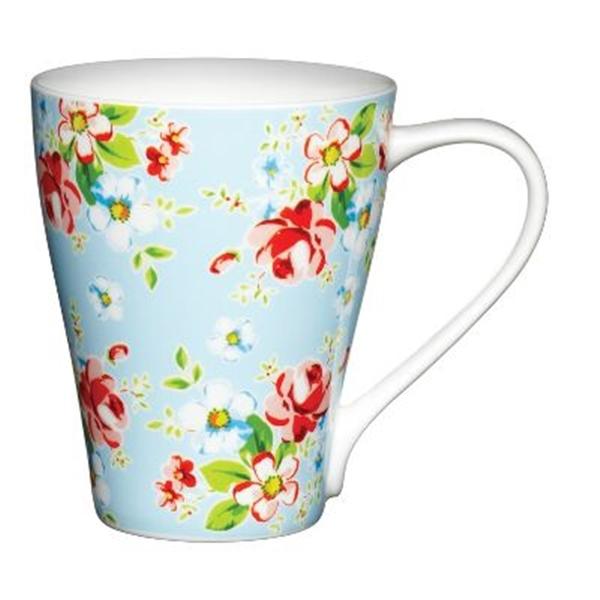 Taza para Mug Cake Flores con fondo azul