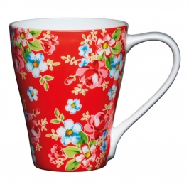 Taza para Mug Cake Rojo Floral