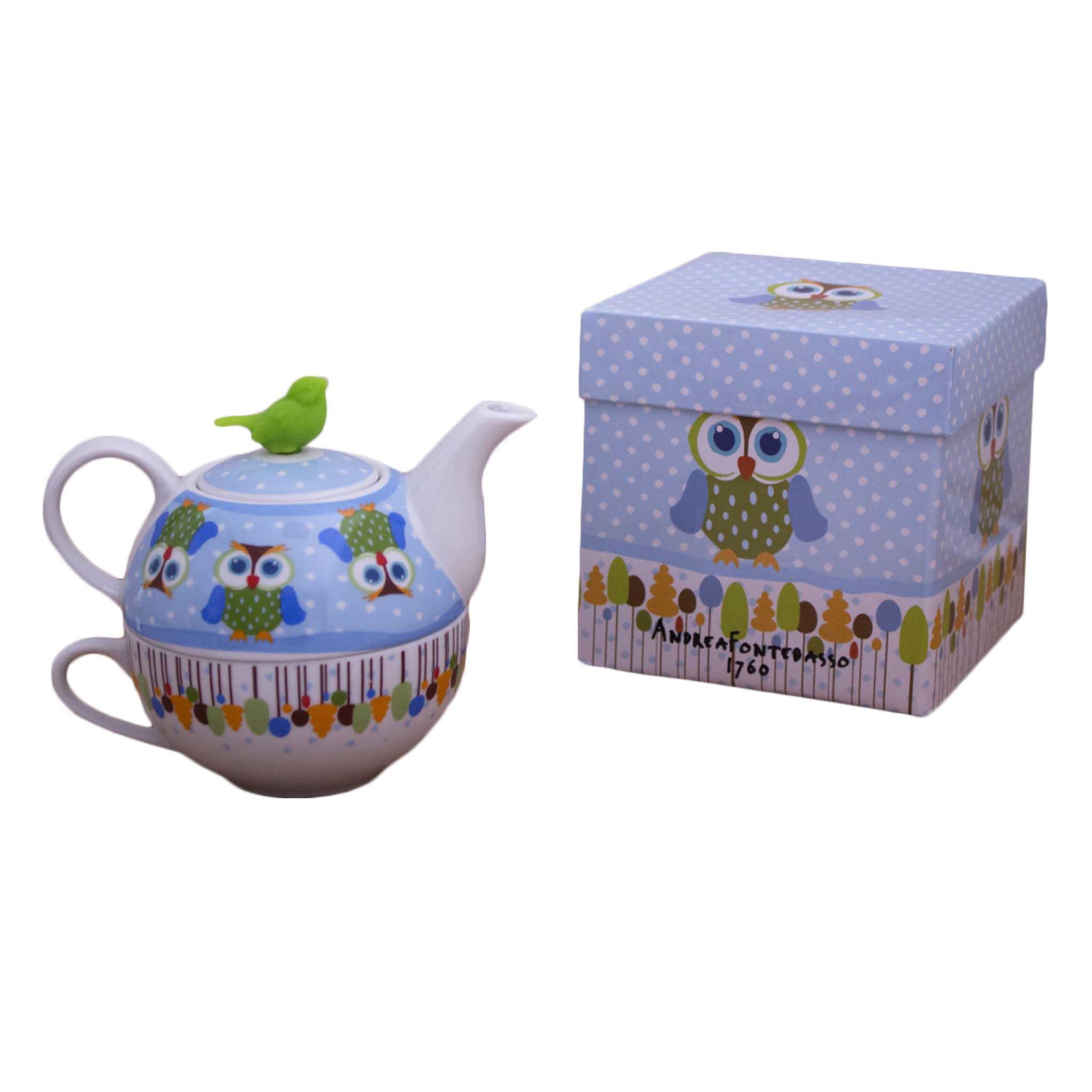 Tetera con taza de porcelana Cheeky Owl