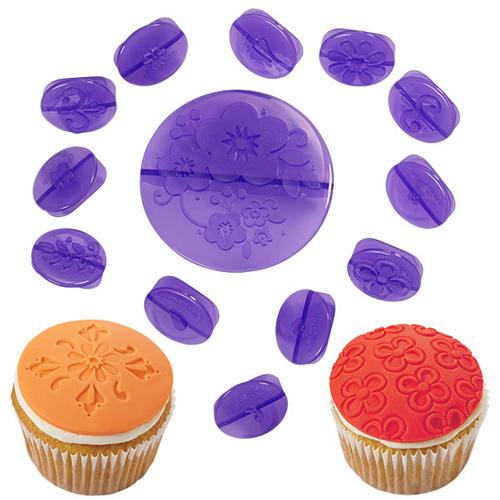 Juego de Texturizadores para Cupcakes Flowers (14pcs.)